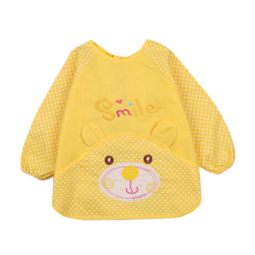Lovely Baby Bibs Feeding Bib Kid's Apron Overclothes Waterproof Painting Smock A
