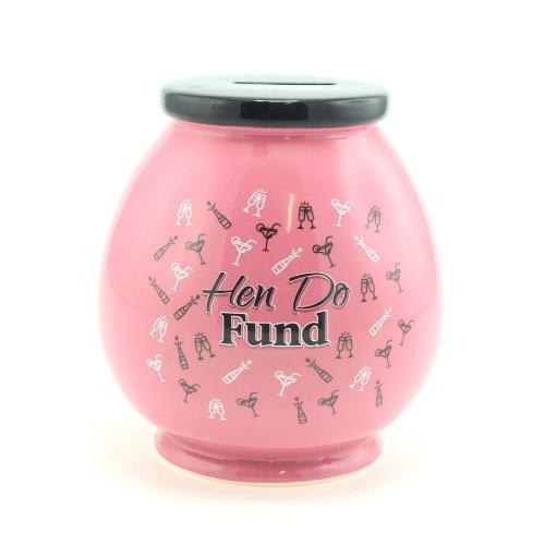 Hen Do Money Pot / Box - Pink