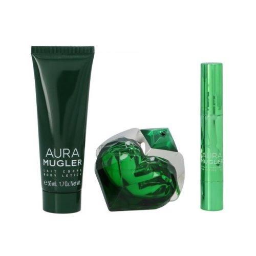 Mugler Aura Mugler Gift Set - 30ml Eau De Parfum, 50ml Body Lotion & Perfume Pen