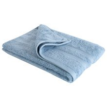 New Egyptian Cotton Soft High Quality Solid Color Washcloth Bath Towel Flannel, Blue (34x75cm)