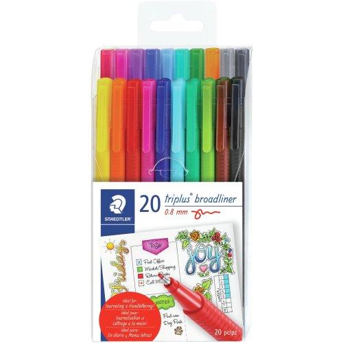 Triplus Broadliner Pens 20/Pkg-