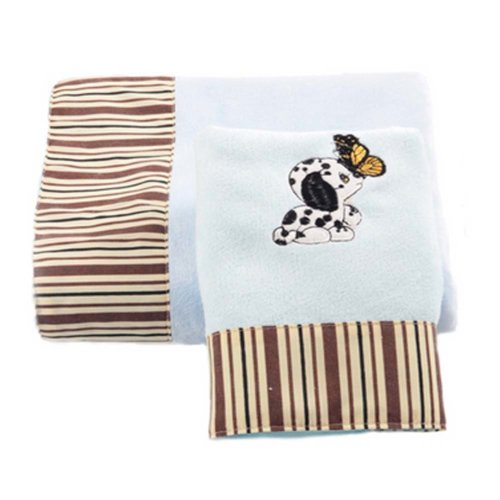 Baby Strong Absorbent Dog Pattern Bath Towels Sets(Multicolor)