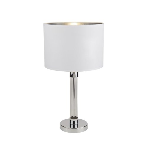 Searchlight Hadley Table Lamp Chrome With Glass Cyclinder Centre