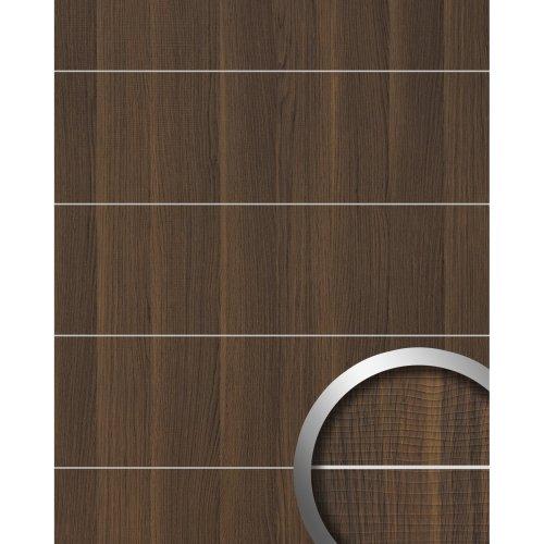 WallFace 19099 NUTWOOD 8L adhesive wall panel wood look dark brown 2.6 sqm