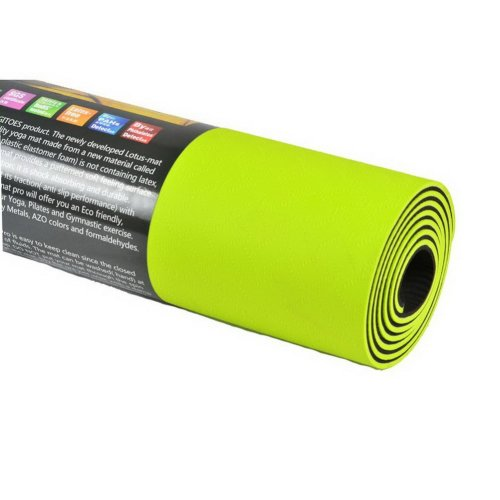 Yoga Mat 6mm TPE Exercise Mat with Mesh Bag (Neon Green)