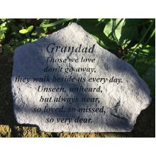 Grandad Memorial Graveside Garden  Stone Plaque