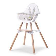 CHILDWOOD 2-in-1 Baby High Chair Evolu 2 White CHEVOCHNW
