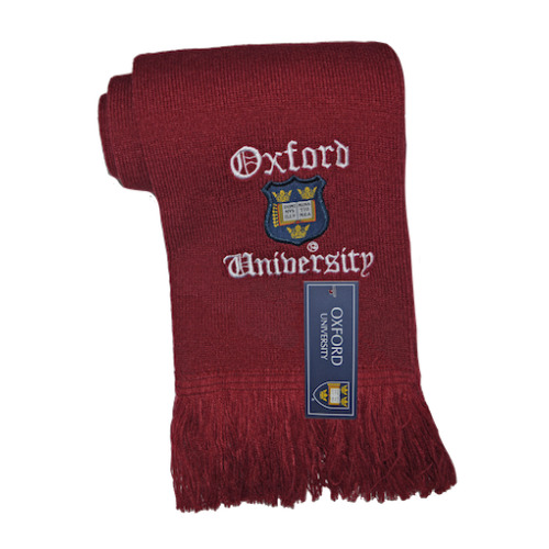 Licensed Oxford University Scarf Maroon