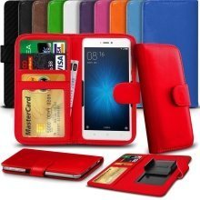 """iTronixs - Cat S30 (4.5"""") High Quality Clamp Style PU Leather Wallet Case Cover"""