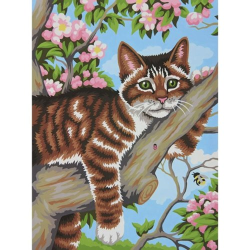 "Dpw91478 - Paintsworks Learn to Paint 9"" X 12""- Lazy Cat"