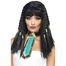Smiffy's Cleopatra Wig With Gold Trim - Black