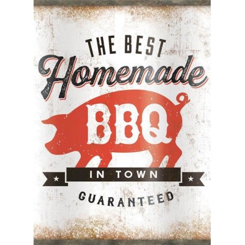 Open Road Brands 9730656 The Best Homade BBQ in Town Oil Can Tin - 3 per Pack