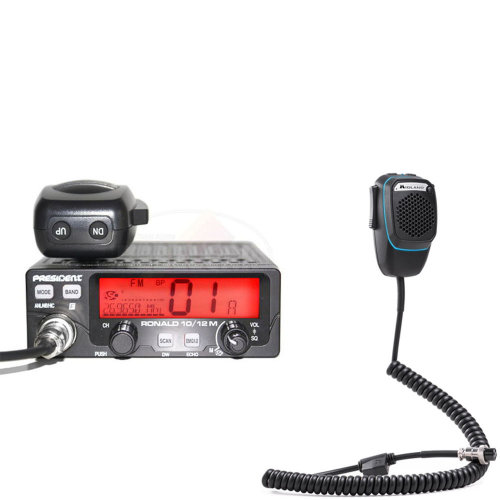 CB Radio  Bundle   CB President Ronald Radio + Dual Mike Intelligent Microphone with 6-pin Bluetooth