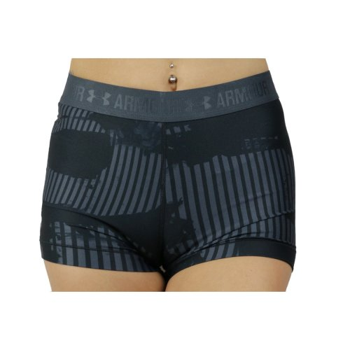 Under Armour HG Armour Printed Short 1302777-008 Womens Black shorts