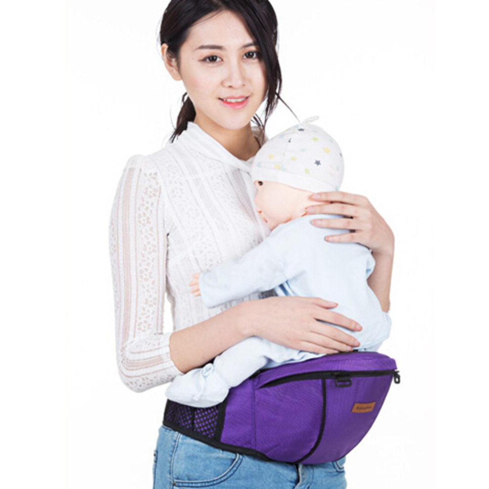 ... Multifunctional Baby Carrier Kid Hip Seat Carrier/Backpack With Waist Bag Wine - 1. >