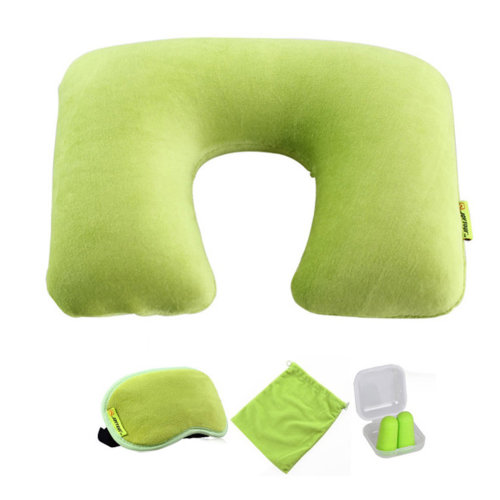 Comfortable Neck Pillow Travel Pillow With Sleep Mask And  Earplugs
