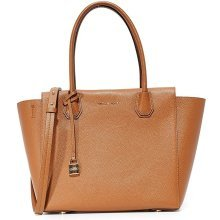 Michael Kors Mercer Large Leather Satchel - Tan - 30H6GM9S3L-230