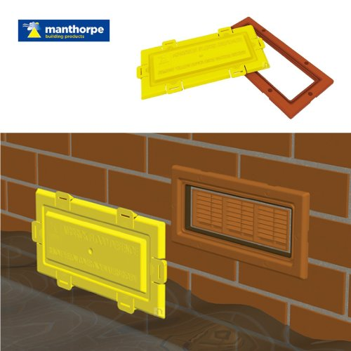 Airbrick flood water defence Protection cover and Terracotta frame / Air Brick