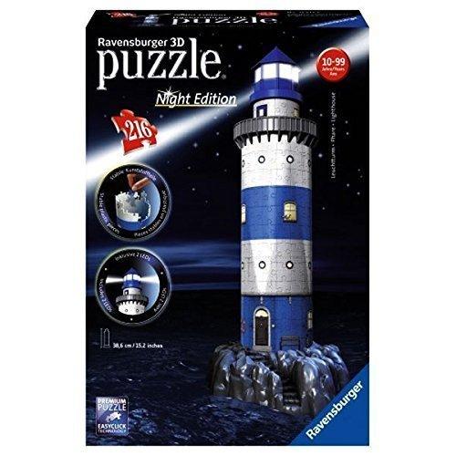 Ravensburger Lighthouse - Night Edition, 216pc 3D Jigsaw Puzzle®