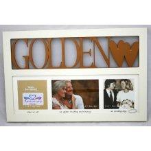 Golden Wedding 50th Anniversary Gift Multi Photo Frame