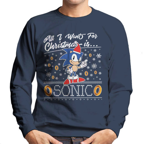 All I Want For Christmas Is Sonic The Hedgehog Men's Sweatshirt
