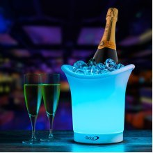 LED Colour Changing Ice Bucket - Changes 7 Colours - Battery Operated