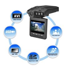 "1280P HD 2.5"" LCD Night Vision CCTV In Car DVR Accident Video Proof Recorder"