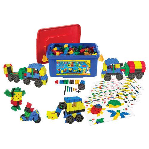 Morphun Advanced Building Bricks Set (500 Pieces) - Educational Construction System