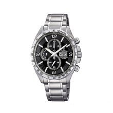 Festina F6861/4 Mens Chronograph Black Dial Stainless Steel Watch