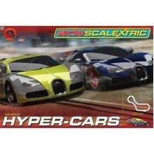 Micro Scalextric Hyper-cars - Set Race 164 Hyper Cars -  micro scalextric set race 164 hyper cars