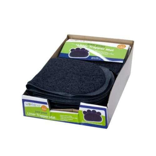 Kole Imports HH524-8 Paw Print Litter Trapper Mat Countertop Display - Pack of 8