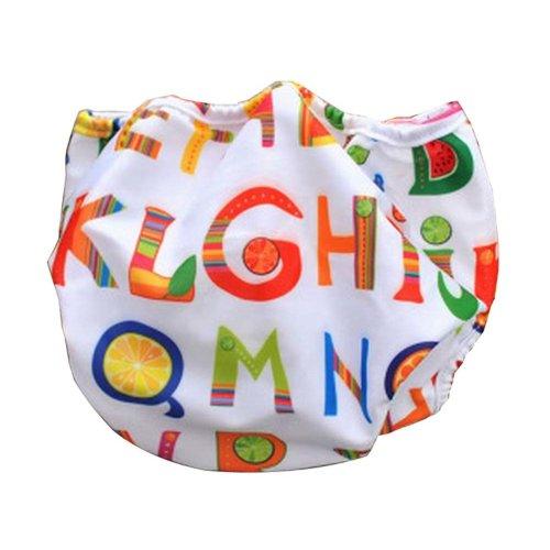 [Letter] Reuseable Baby Swim Diaper Lovely Infant Swim Nappy Swimwear