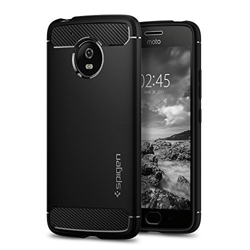 premium selection c13c1 f8dec Lenovo Moto G5 Case, Spigen [Rugged Armor] Original Patent Carbon Fiber  Design Ultimate Shock Protection from Drops Phone Case Cover for Lenovo...