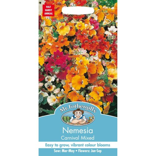 Mr Fothergills - Pictorial Packet - Flower - Nemesia Carnival Mixed - 500 Seeds