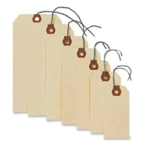 Avery Consumer Products AVE12604 Shipping Tags W-Wire- No 4- 4-.25in.x2-.13in.- Manila