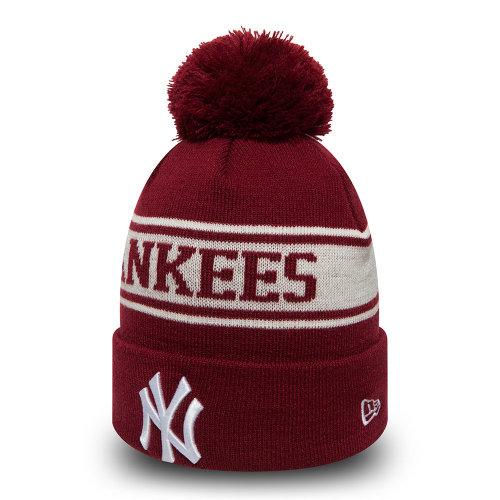 927c5b58 New Era Seasonal Jake Cuff Knit Beanie ~ New York Yankees burgundy