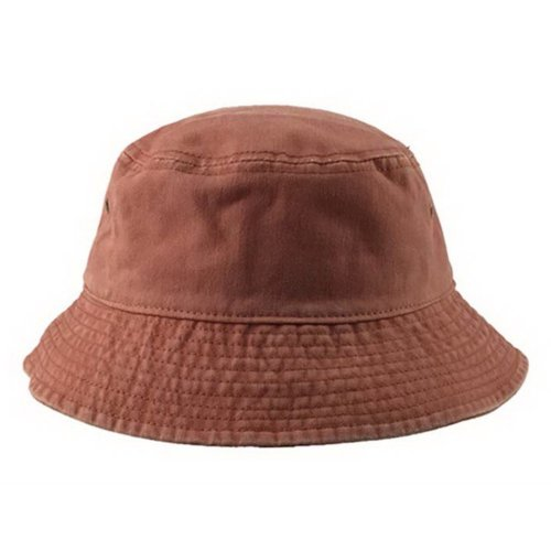 1706fac11d811b Unisex Short Brim Cotton Bucket Hat Summer Outdoor Leisure Fisherman Hat,  Orange on OnBuy