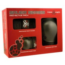 Triple 8 Saver Series Wristsavers/Kneesavers/Elbowsavers (Black, Small, 3 Pack)