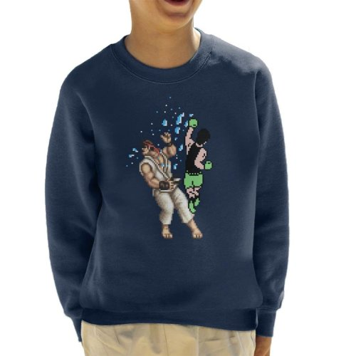 Pixel Fight Punch Out Ryu Street Fighter Kid's Sweatshirt