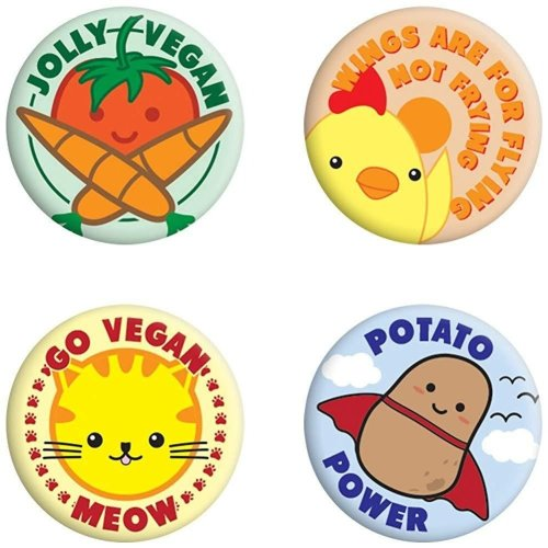 Grindstore Jolly Vegan Badge Pack