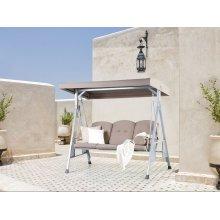 Garden Furniture - Outdoor Furniture - Garden Swing - Swing Seat - 3 seater - Beige - GARBO