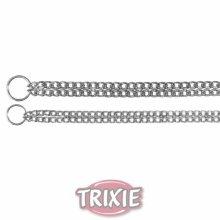 Trixie Chromed Double Row Choke Chain, 55cm x 2.5mm - Chain Dog Collar Chrome -  row chain double choke trixie dog collar chrome chromed sizes
