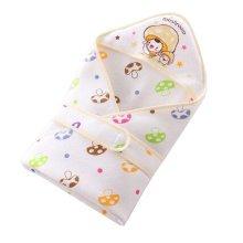 Lovely Baby Receiving Blankets Summer Hooded Swaddleme Mushroom , Yellow