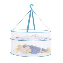 Creative Drying Rack Portable Folding Drying Mesh Net for Clothes/Dolls, Blue
