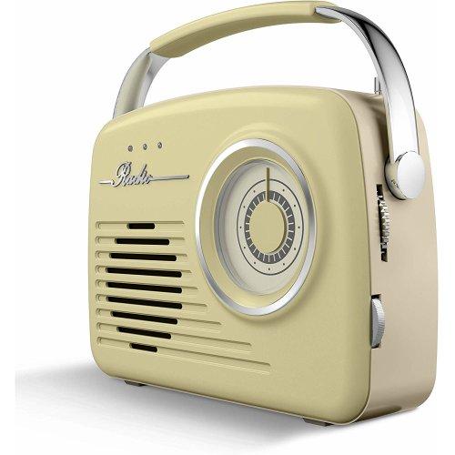 Akai A60014VSG Vintage Radio AM/FM, Battery/Mains Powered Sage Green