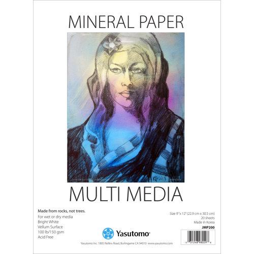 """Multi-Media Mineral Paper Pad 9""""X12"""" 20 Sheets-"""