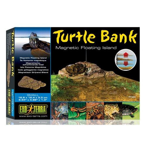 Exo Terra Turtle Bank Magnetic Floating Island Small 16.6x12.4x3.3cm
