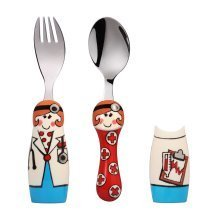 Eat4Fun Duos Girl Doctor Children's Cutlery Set