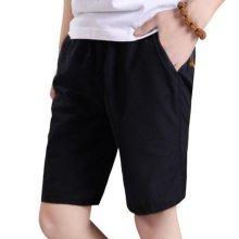 Black Quick-drying Pants Men Casual Boardshorts Holiday Loose Beach Shorts