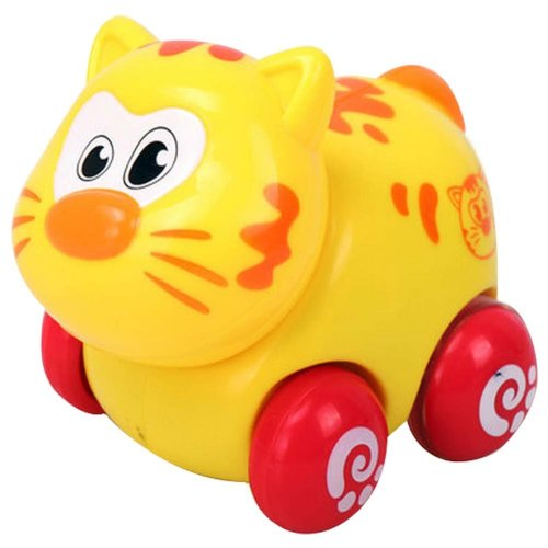 Set of 2 Cartoon Cat Car Wind-up Toy for Baby/Toddler/Kids(Multicolor)